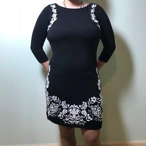 NWT Monsoon bodycon Little Black sweater dress 4